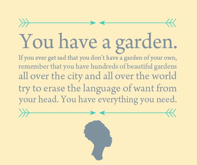 My Prudent Advice: You have a garden.