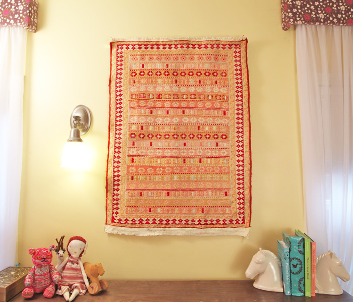 Hang Blanket On Wall how to hang a rug | pretty prudent