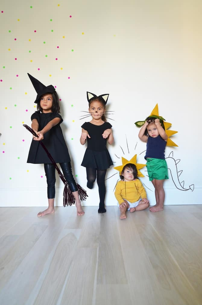 DIY Halloween Headbands: Witch, Cat, Sunshine & Magic Dragon
