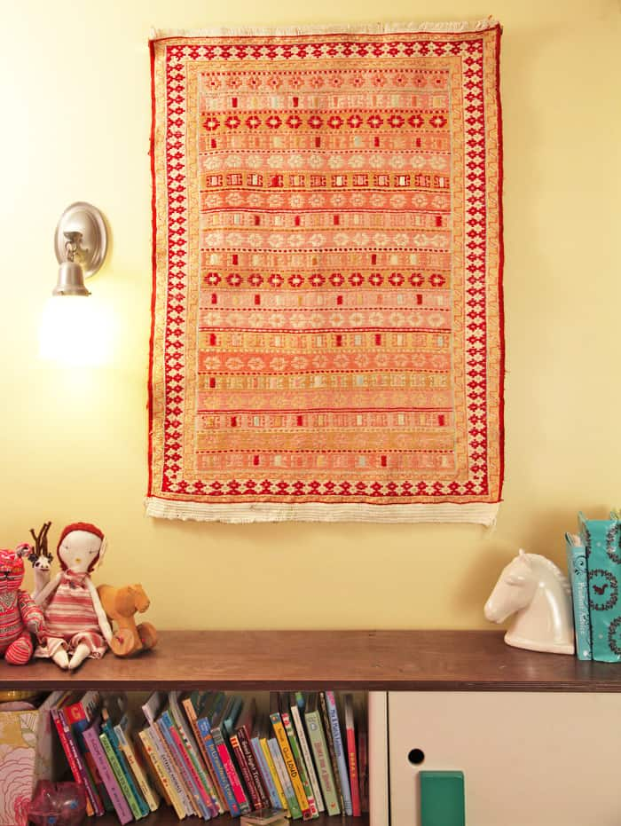 how to hang a rug | pretty prudent