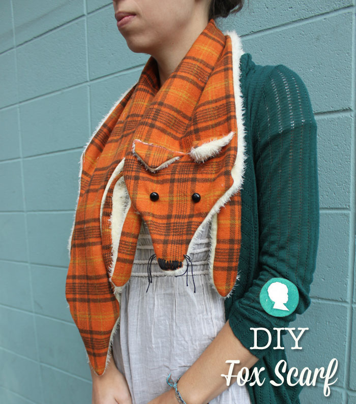 DIY Fox Scarf with Free Pattern | Pretty Prudent