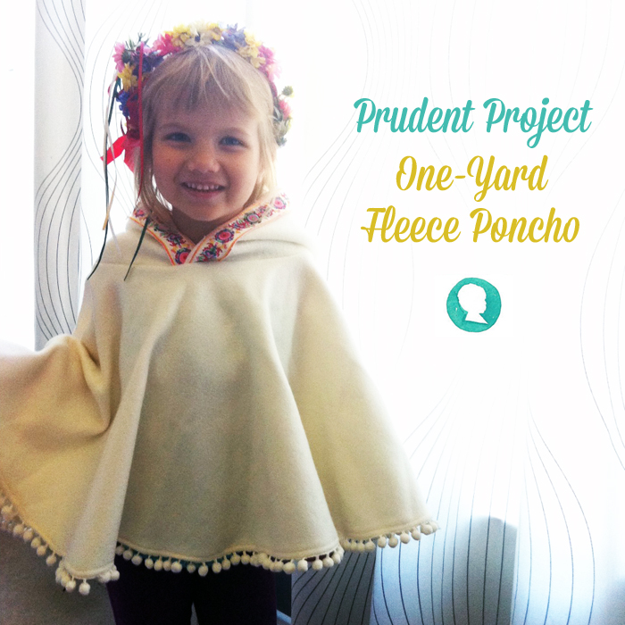 DIY Baby Fleece Poncho Tutorial Project