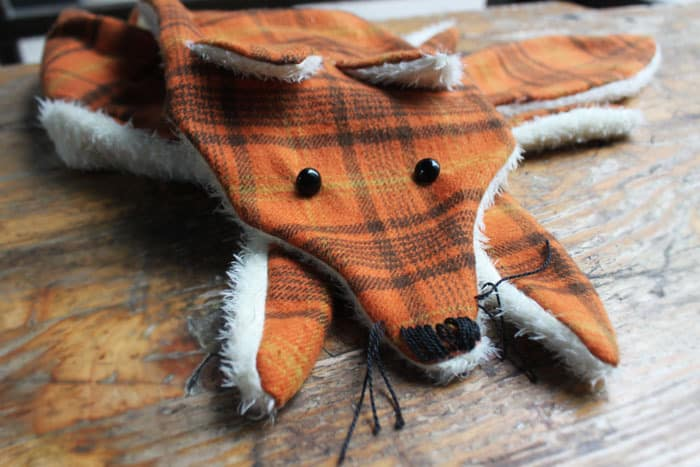 DIY FOX SCARF WITH FREE PATTERN