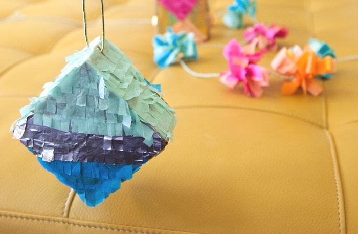 mini piñata tissue paper ornament