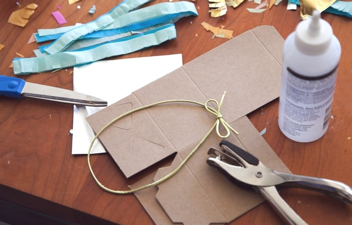 mini piñata tissue paper ornament