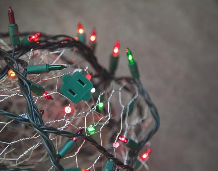 DIY Christmas Light Orbs