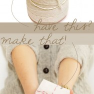 DIY Striped Baker's Twine