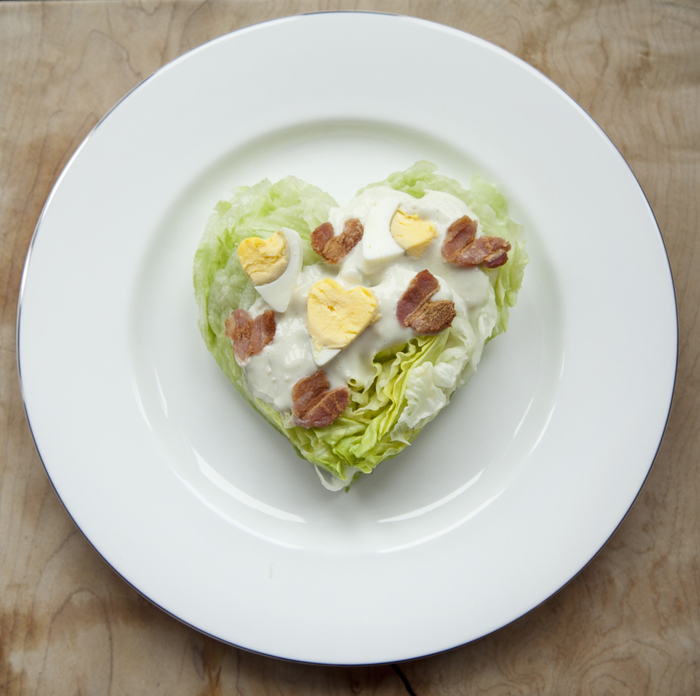 Valentine's Recipe - Heart-shaped wedge salad