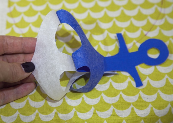 DIY Anchor Crinkle Toy