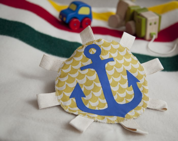 DIY Anchor Crinkle Tag Toy with Recycled Baby Wipe Bag ...