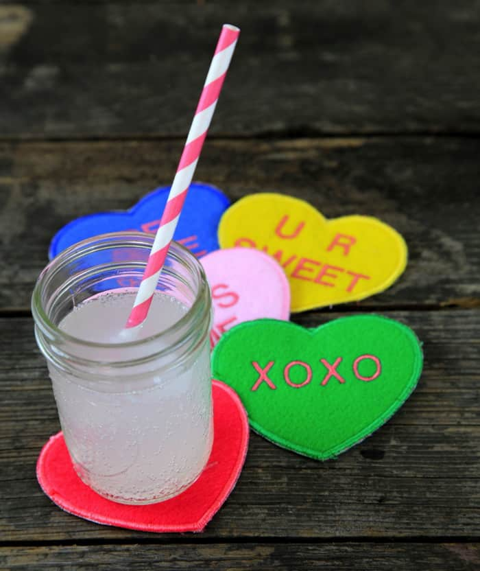 Conversation Heart Coasters