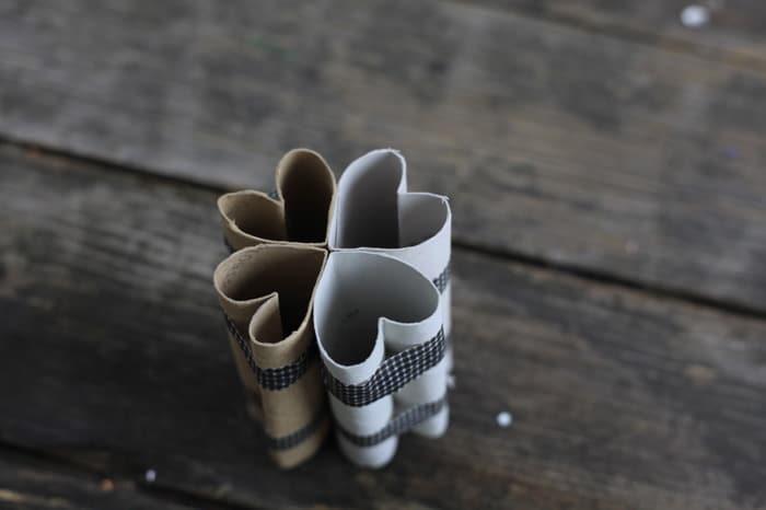 toilet paper roll four leaf clover shamrock stamp 9