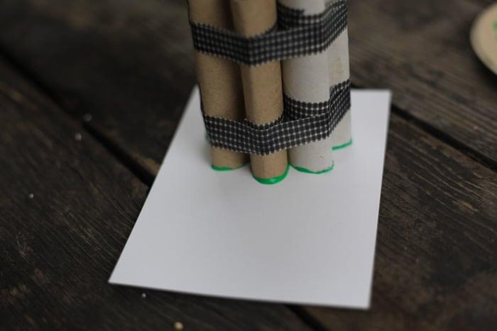 toilet paper roll four leaf clover shamrock stamp 12