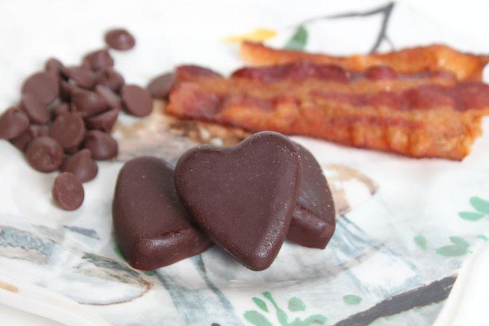 How to Make Sea Salt + Maple Bacon Chocolate Hearts