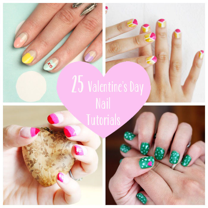 Save 25 Totally Pretty Valentine S Day Nail Tutorials