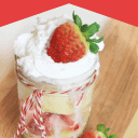 Microwave Strawberry Shortcake in a cup
