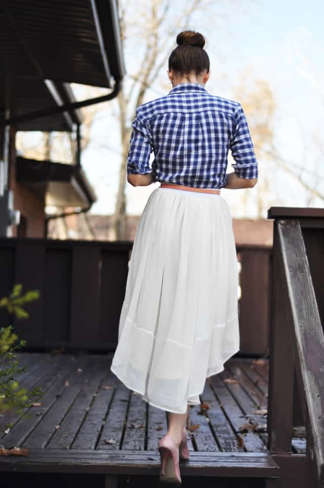 Sheer Gathered High Low Skirt Tutorial Pretty Prudent