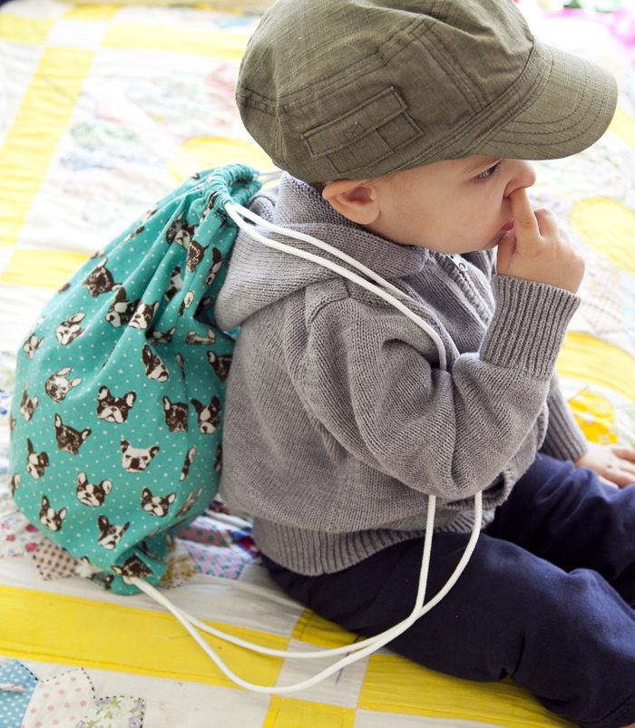 How to sew a drawstring backpack bag