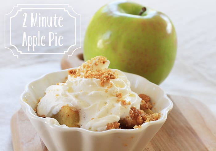 2 minute microwave apple pie recipe