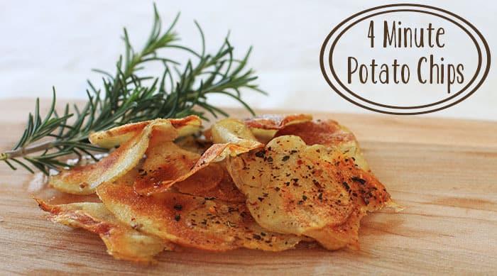 Homemade Potato Chips Recipe 4 minute potato chips: a microwave recipe ...