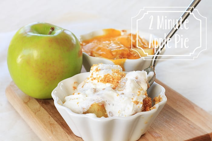2 Minute Microwave Apple Pie