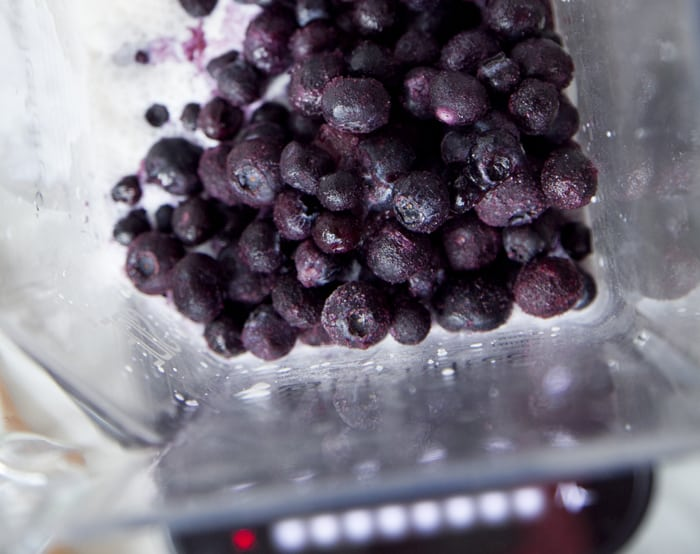 Blueberry Lavender Ice Cream in a Blender