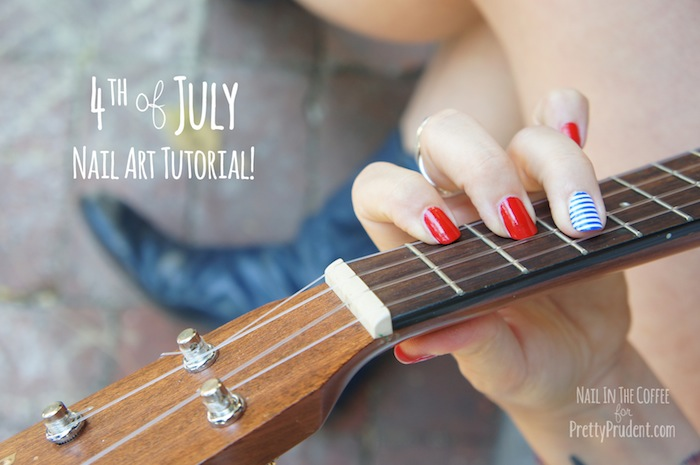 4th of july nail art tutorial pretty prudent 4th of july nail art tutorial solutioingenieria Choice Image