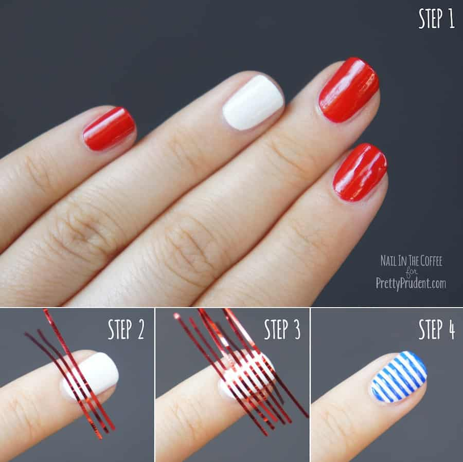 4th Of July Nail Art Tutorial Pretty Prudent