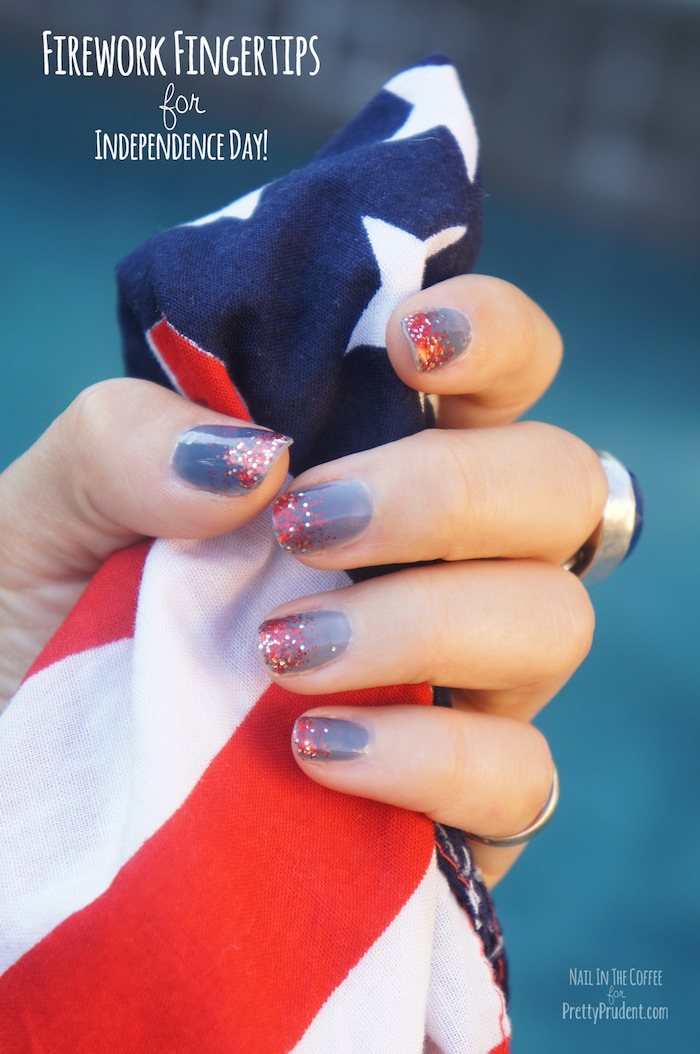 Firework Fingertips: 4th of July Nail Art Tutorial | Pretty Prudent