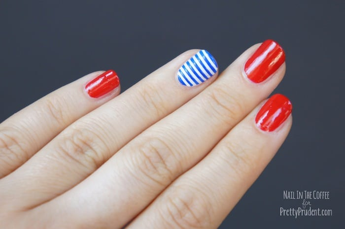 4th of july nail art tutorial pretty prudent 4th of july nail art tutorial prinsesfo Choice Image