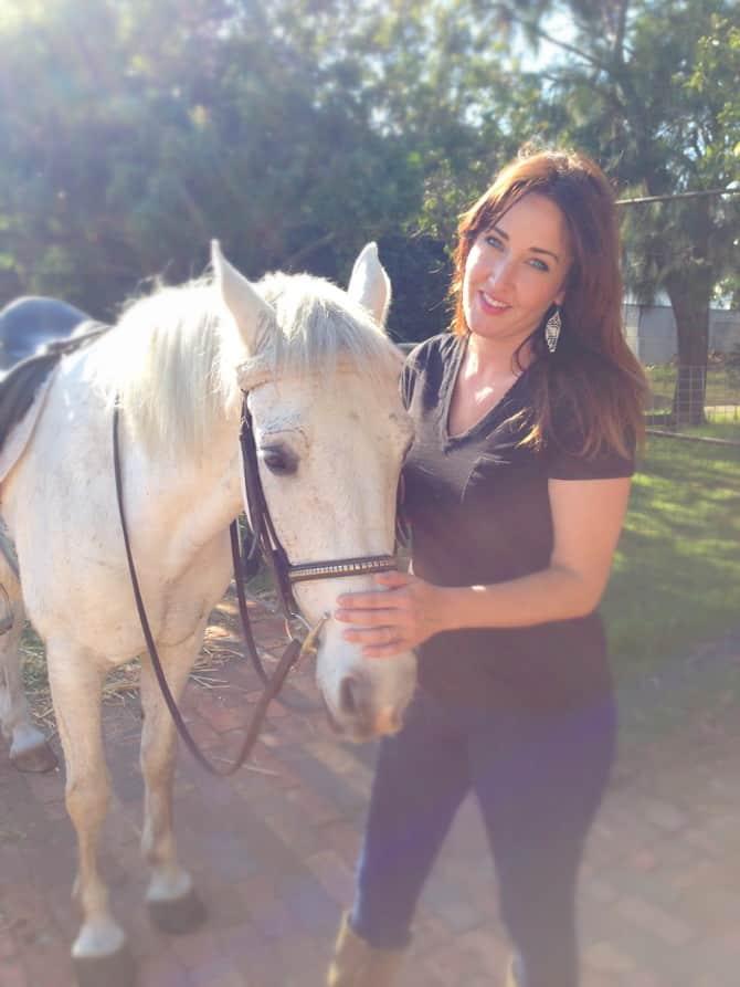 horseback riding jaime with horse