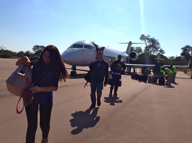 south african airways landing in hoedspruit
