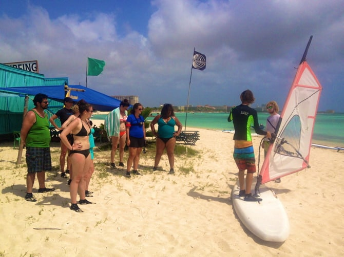 aruba windsurfing lessons