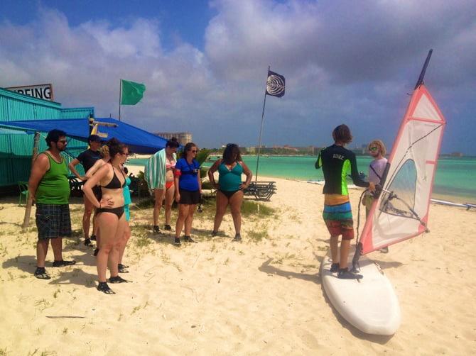 aruba windsurfing lessons