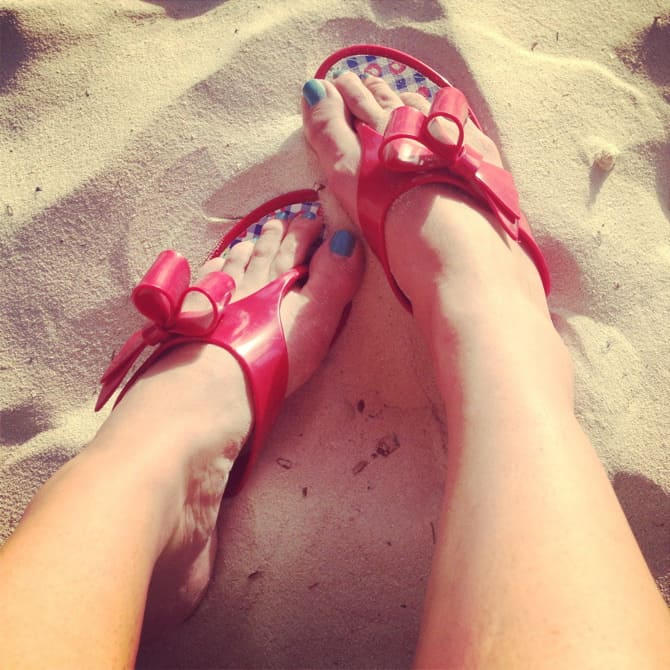 aruba flip flops of cuteness