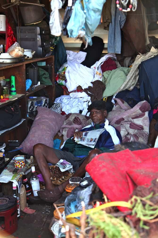 Zulu Medicine Man at Muti Market Durban