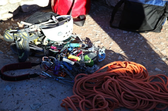 table mountain climbing gear