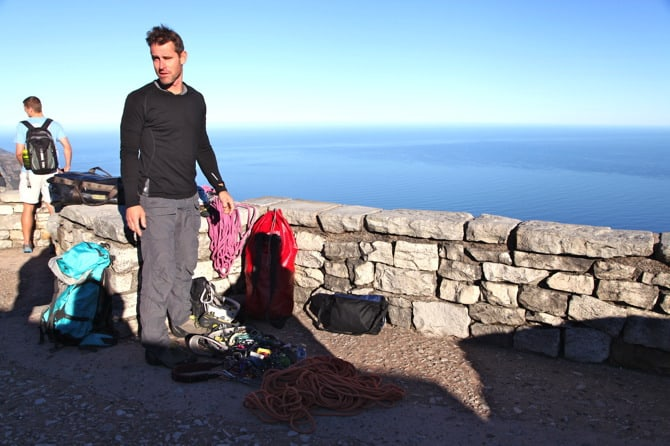 table mountain climber