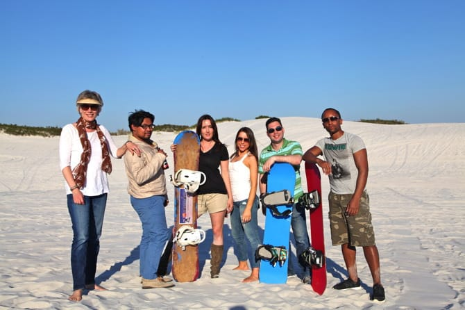sandboarding south africa group