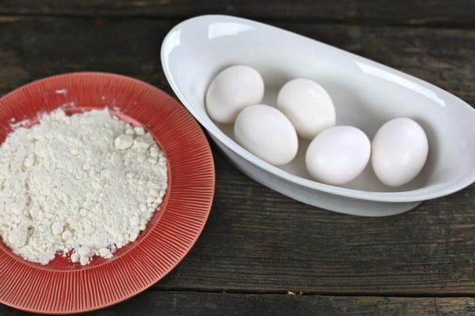 eggs and flour