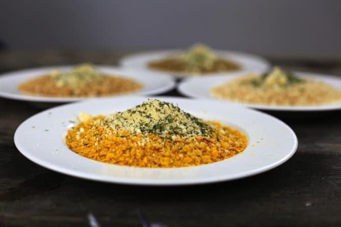 adding parmesan to breading