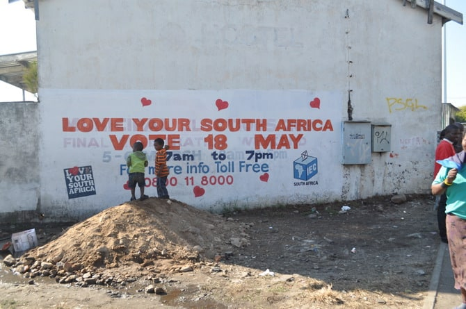 Langa Love Your South Africa Sign