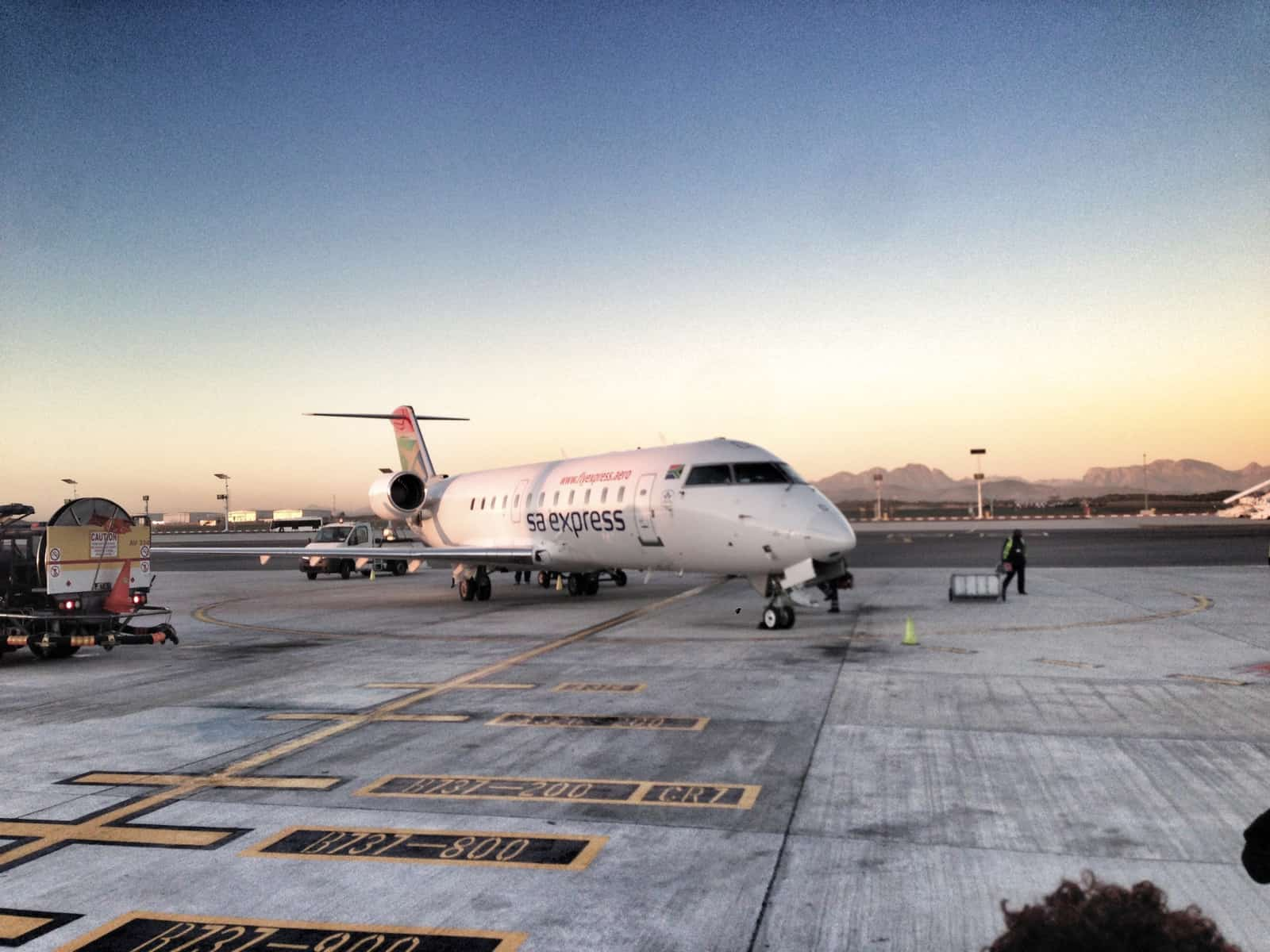 SA Express Plane in Cape Town