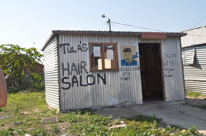 Tula's Hair Salon in Langa Township South Africa