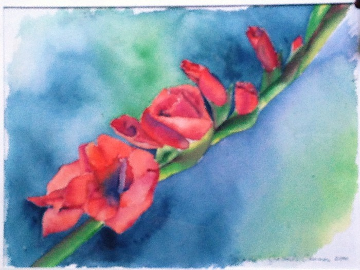 Jacinda Boneau Gladiola Watercolor