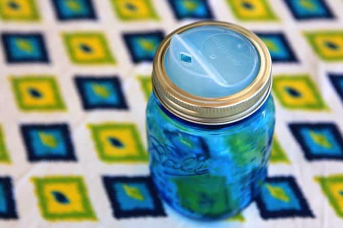 mason jar drinking spout