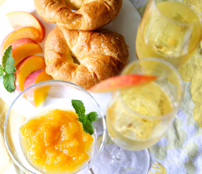 peach jam recipe with champagne