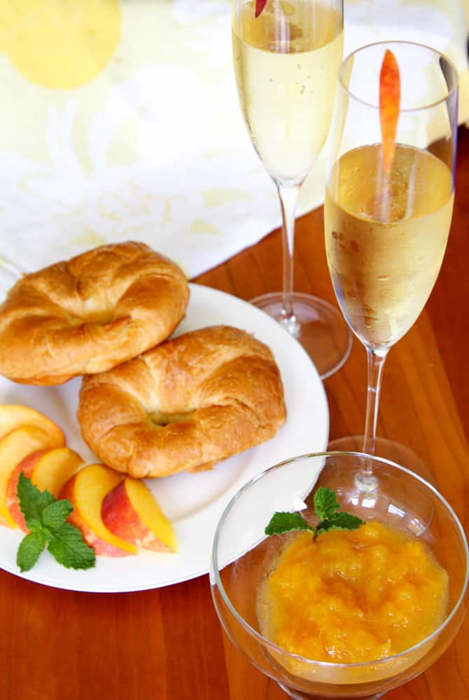 champagne jam recipe with peaches