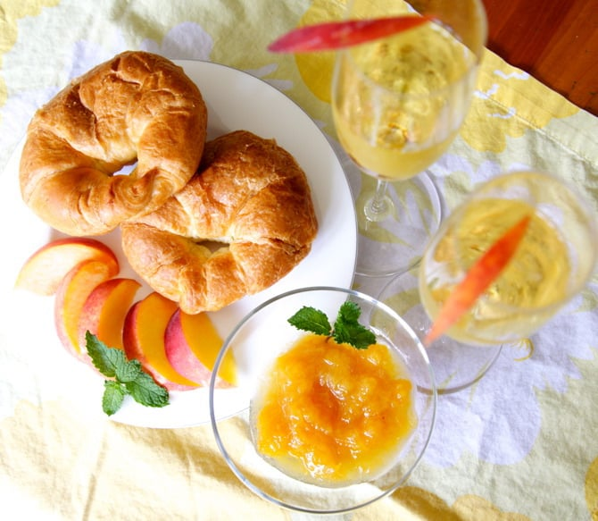 how to make bellini peach and champagne jam