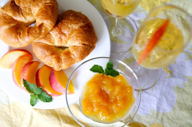 Bellini Jam Recipe peaches and champagne